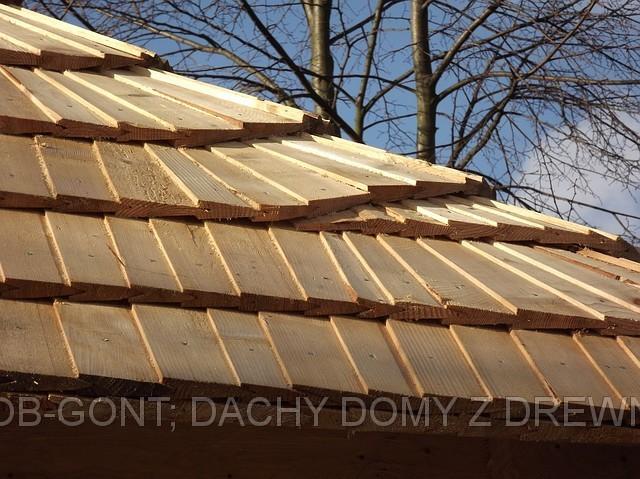 pokrycie dachu, układanie gontu